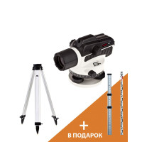 Оптический нивелир ADA Ruber X32 + Рейка ADA STAFF 3 + Штатив ADA Light S (A00121_K)