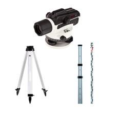 Оптический нивелир ADA Ruber X32 + Рейка ADA STAFF 3 + Штатив ADA Light S