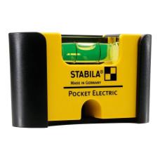 Stabila Pocket Electric с зажимом | Уровень строительный (18115)