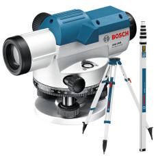 Оптический нивелир Bosch GOL 20 D + Штатив BT 160 + Рейка GR 500 (0.601.068.402)