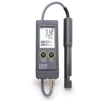 HI 991301N | pH-метр/кондуктометр/термометр портативный водонепроницаемый