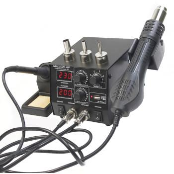 МЕГЕОН 00686 | Паяльная станция с феном и USB