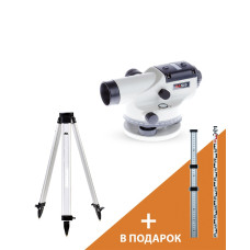 Оптический нивелир ADA Basis + Рейка ADA STAFF 3 + Штатив на винтах ADA Light S (A00117_K)