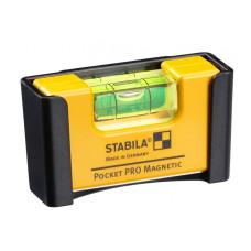 Stabila Pocket Pro Magnetic с зажимом | Уровень строительный (17953)