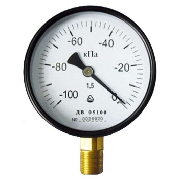 Вакуумметр с радиальным штуцером | ∅160 мм