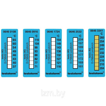 Testoterm +161 ... +204 °C | Термометрические полоски