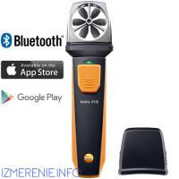 Testo 410i | Анемометр с крыльчаткой с Bluetooth, управляемый со смартфона/планшета