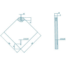 СОП- УП-1 | Стандартный образец для контроля перекрестий